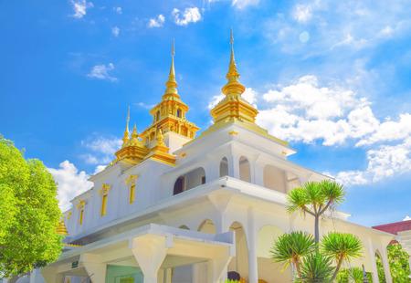 pagoda topped church, lampang city, thailand