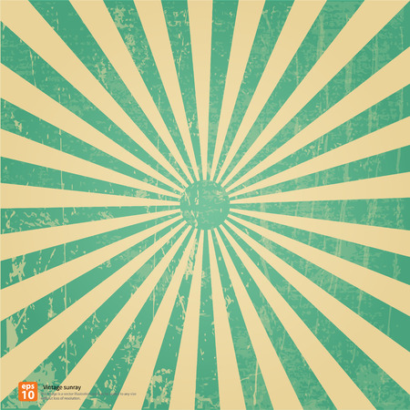 Photo pour New vector Vintage green rising sun or sun ray,sun burst retro background design - image libre de droit
