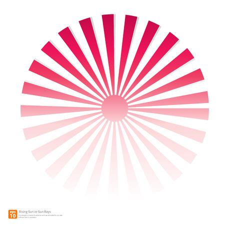 New pink rising sun or sun ray,sun burst vector design