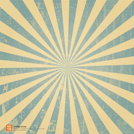 New vector Vintage blue rising sun or sun ray,sun burst retro background design
