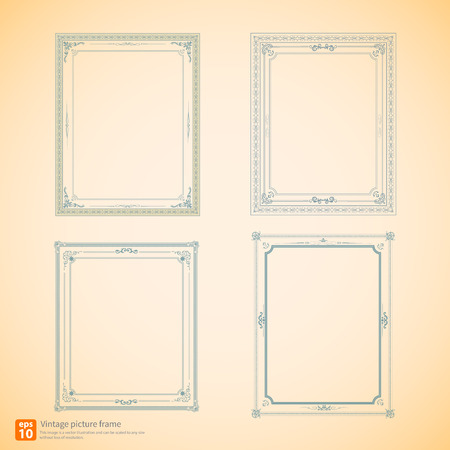 Vintage or Retro picture frame  vector design