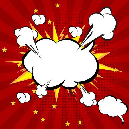 Cartoon, Boom explosion Comic Speech Bubble