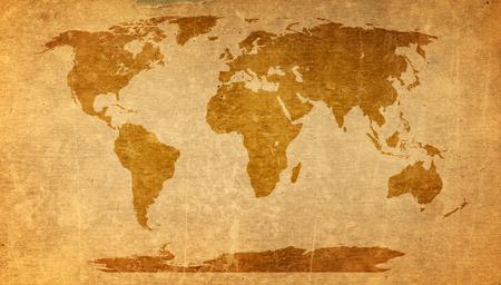Photo pour world map on old paper texture - brown paper sheet. - image libre de droit