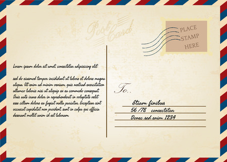 Vintage postcard, Vector Illustration eps10 design