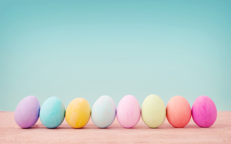 Foto per Vintage pastel color of Easter eggs. - Immagine Royalty Free