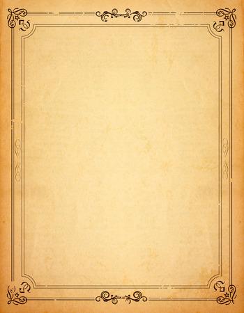 Foto de Old paper with patterned vintage frame - blank for your design - Imagen libre de derechos