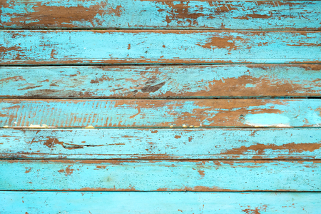 Foto de Vintage beach wood background - Old weathered wooden plank painted in blue color. - Imagen libre de derechos