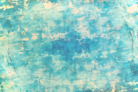 Photo for Blank grunge concrete wall blue sea color paint for texture. vintage background - Royalty Free Image