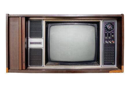 Photo pour Vintage television - Old TV  isolate on white - image libre de droit