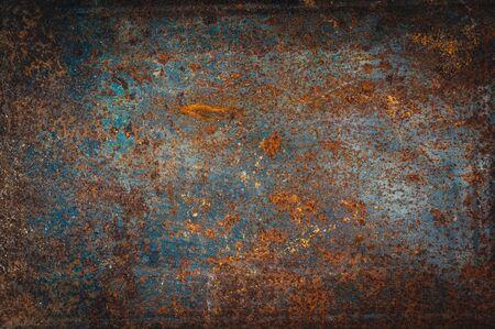 Photo pour Abstract rusty grain on metal - image libre de droit