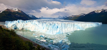 Perito Moreno Glacier Panorama as seen in Los Glaciares National Park, Patagonia, Argentina