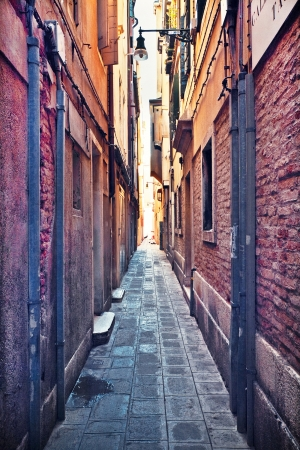 Narrow alley in Venice, Italy