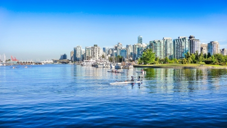 Foto per Vancouver skyline with harbor, British Columbia, Canada - Immagine Royalty Free