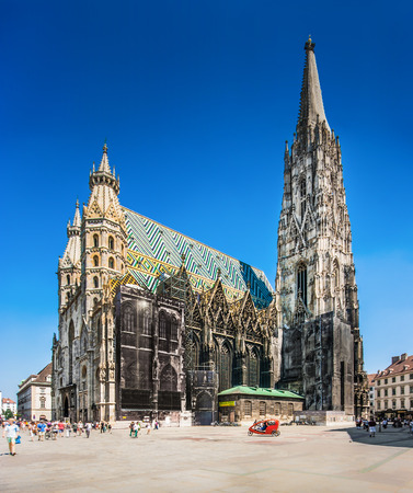 Famous St Stephens Cathedral at Stephansplatz in Vienna, Austria