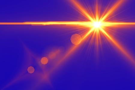 Photo pour Lens flare abstract background  Asymmetric light rays - image libre de droit