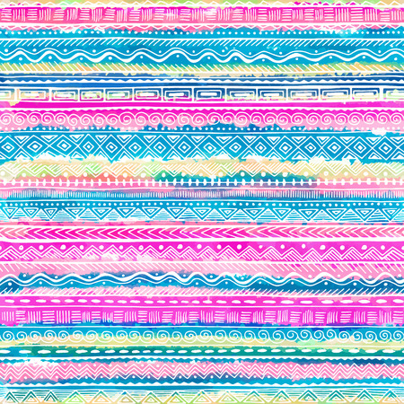 Seamless hand drawn ethnic pattern . Vector tribal background for fabric, textile, wrapping paper, web pages, wedding invitations, save the date cards.