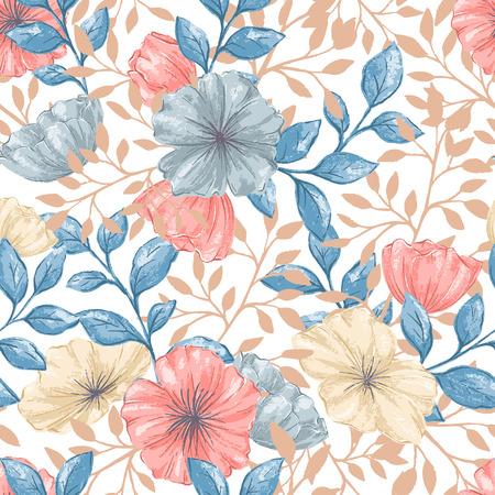 Illustration pour A Seamless Retro pattern on plain background. - image libre de droit
