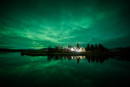 Aurora borealis (Northern Lights) in Iceland