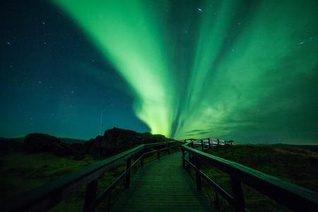 Photo pour Aurora borealis (Northern Lights) in Iceland - image libre de droit