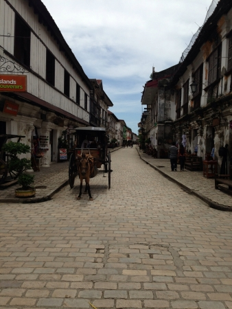 Traditionally-structured commercial stalls found only in Vigan Ilocos Sur.