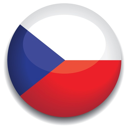 czech republic flag in a button