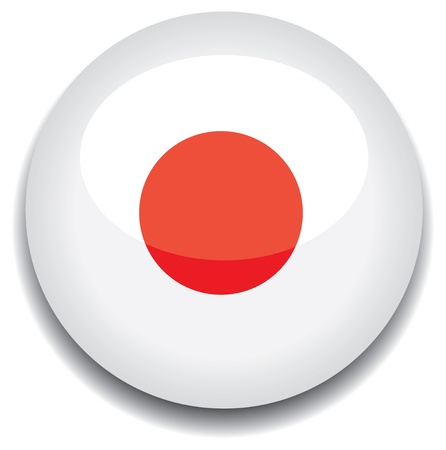 japan flag in a button