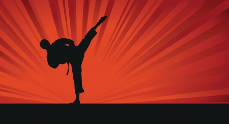 karate silhouette background