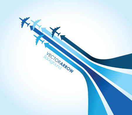 Illustration for blue airplane background - Royalty Free Image