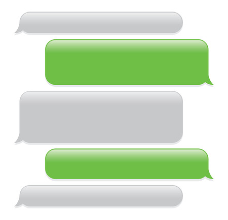 Ilustración de a green mobile phone text messaging screen - Imagen libre de derechos