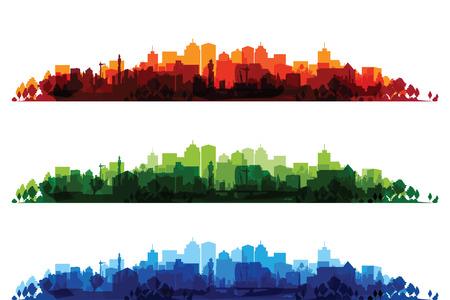 Illustration pour over print cityscapes - image libre de droit
