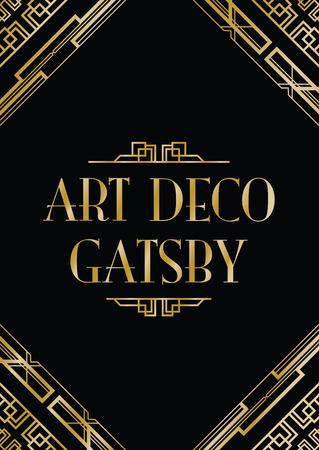 Illustration for art deco gatsby style background - Royalty Free Image