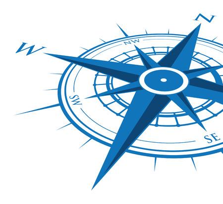 Illustration pour blue compass background - image libre de droit
