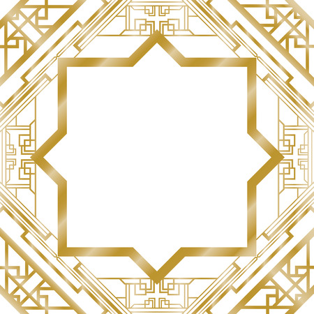 Illustration for art deco abstract background - Royalty Free Image