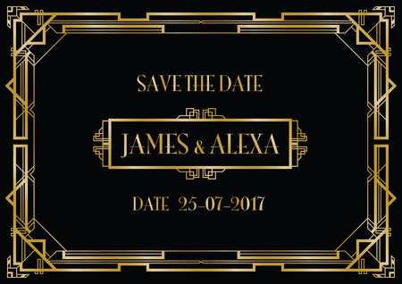 Illustration for save the date wedding invitation - Royalty Free Image