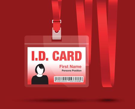Illustration pour id card woman - image libre de droit