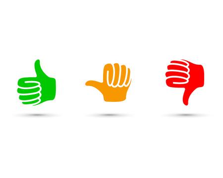 Illustration pour thumbs up set - image libre de droit