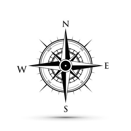 Illustration pour black compass illustration. - image libre de droit
