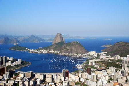 Sugarloaf mountain and the lagoon in Rio de Janeiro, Brazil