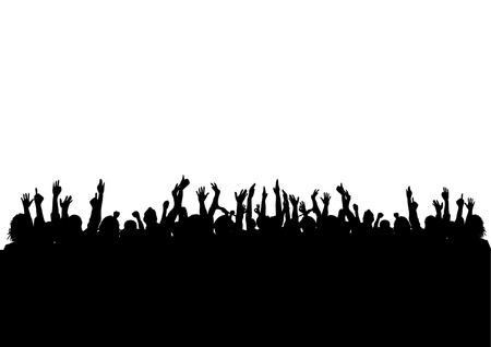 Illustration pour CROWD - image libre de droit