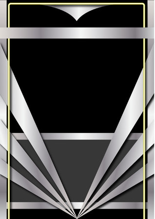 Illustration for Art Deco Background and Frame - Royalty Free Image