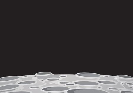 Ilustración de moonscape background image of the moon surface with craters - Imagen libre de derechos