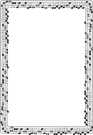 Illustration pour Musical graphic frame - image libre de droit