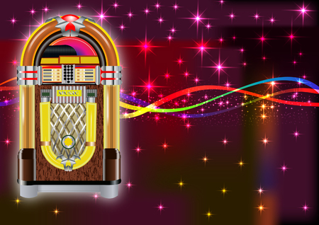 Illustration for Jukebox background - Royalty Free Image