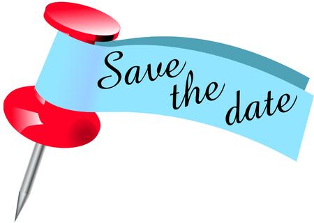 Illustration pour Save the date Pin - image libre de droit