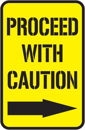Illustration pour Proceed with caution sign - image libre de droit