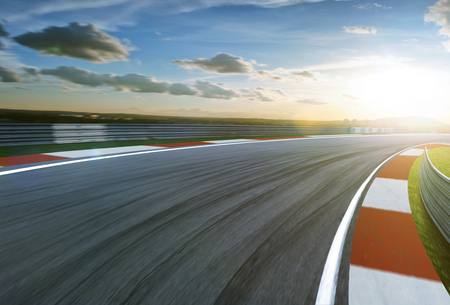 Photo for Motion blurred racetrack,cold mood - Royalty Free Image