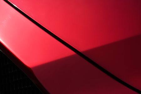 Photo pour Close up detail of red metallic paint coating car body - image libre de droit