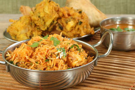 indian food dish of panir biryani