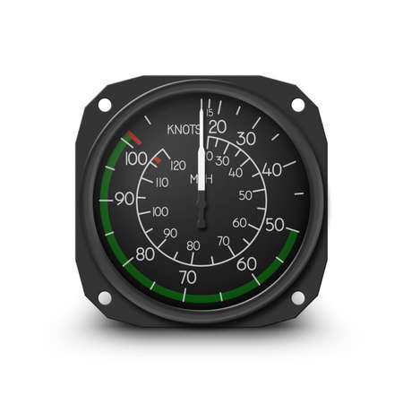 Air speed indicator of popular small helicopter (R22) - Instrument from dashboard. (raster, sRGB)
