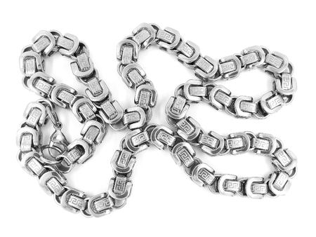 Jewelry chain. Stainless steel. One background color